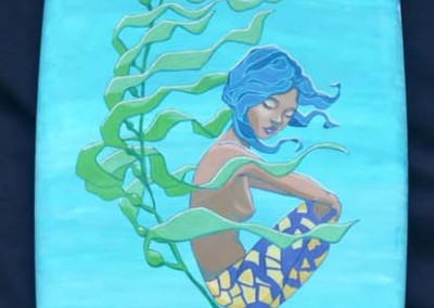 "Ariel's Bliss 72"" X 18"" Acrylic on foam board $1200"