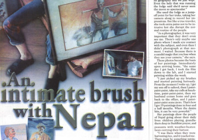 An Intimate Brush with Nepal Philippine Times news article