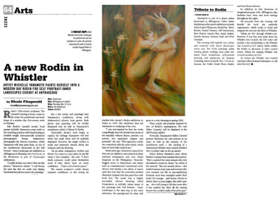 Pique Newsmagazine article- Tribute to Rodin series