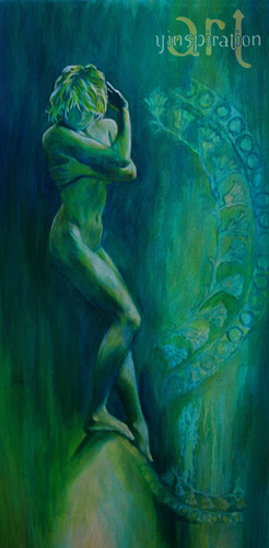 Stepping Into Her Sacredness 18 X 36 SOLD