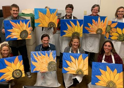 sunflower wine and painting group